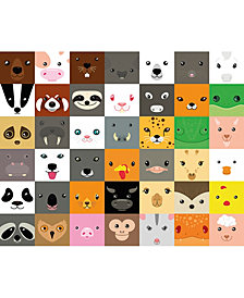 Animal Faces Wall Mural