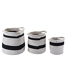Zuo Lafia Baskets with Handles, Set of 3