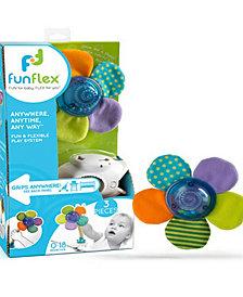 Fun Flex Best Award Winning 3-In-1 Infant Baby Flower Rattle Activity Toy Set