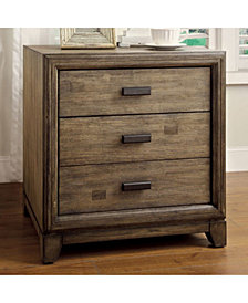 Transitional Style Night Stand, Natural Ash