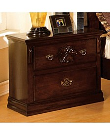 Traditional Style Night Stand, Pine Finish
