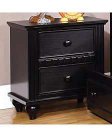 Transitional Style Night Stand,Black