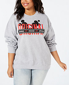 Disney by Love Tribe Trendy Plus Size Mickey Minnie Original Sweatshirt