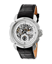 Heritor Automatic Conrad Silver Leather Watches 42mm