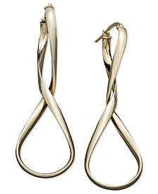 Italian Gold Figure 8 Hoop Earrings in 14k Gold