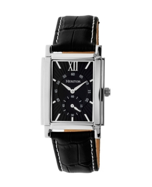 Automatic Frederick Silver & Black Leather Watches 32mm