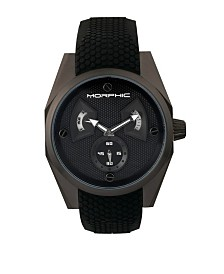Morphic M34 Series, Black Silicone Watch, 44mm