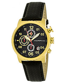 Morphic M38 Series Chronograph Men?s Watch w/ Date - Gold/Black