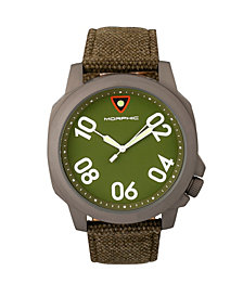 Morphic M41 Series Canvas-Band Men's Watch - Olive/Green