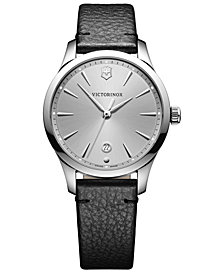 Victorinox Swiss Army Women's Swiss Alliance Small Black Leather Strap Watch 35mm