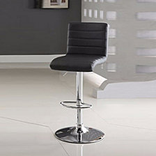Leather & Metal Armless Bar Stool