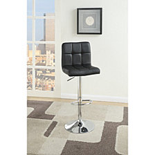 Armless Chair Style Bar Stool With Gas Lift, Set of 2