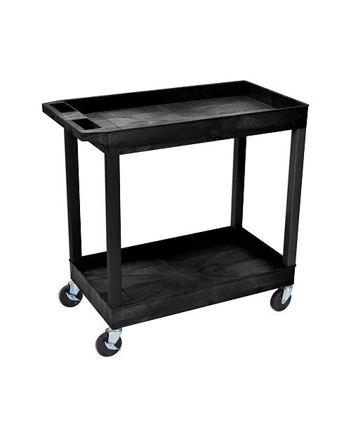 Clickhere2shop Tub Cart 2 Shelves