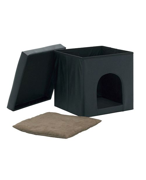 Clickhere2shop Collapsible Pet Bed and Ottoman