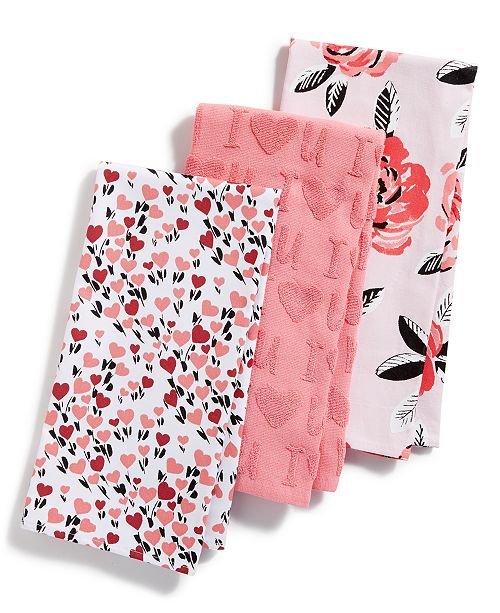 Martha Stewart Collection Valentine Kitchen Towels, Set of 3 ...