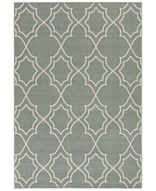 "Alfresco ALF-9589 Sage 3' x 5'6"" Area Rug, Indoor/Outdoor"