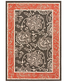 "Surya Alfresco ALF-9592 Black 3' x 5'6"" Area Rug"