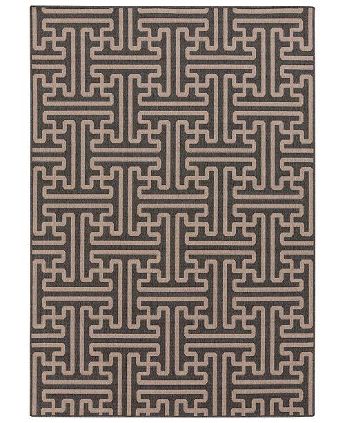 """Surya Alfresco ALF-9604 Black 7'6"""" x 10'9"""" Area Rug, Indoor/Outdoor"""