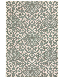 "Surya Alfresco ALF-9634 Sage 2'3"" x 7'9"" Runner Area Rug, Indoor/Outdoor"