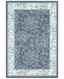 Alfresco ALF-9660 Charcoal 6' x 9' Area Rug, Indoor/Outdoor