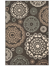 "Surya Alfresco ALF-9668 Black 3' x 5'6"" Area Rug"