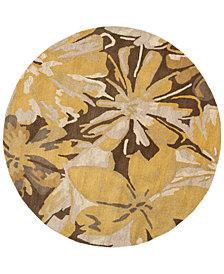 Surya Athena ATH-5115 Tan 8' Round Area Rug