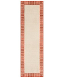 "Surya Alfresco ALF-9683 Burnt Orange 2'3"" x 7'9"" Runner Area Rug, Indoor/Outdoor"