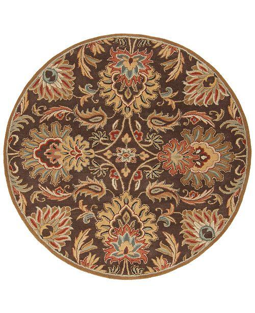"Surya Caesar CAE-1028 Dark Brown 9'9"" Round Area Rug"