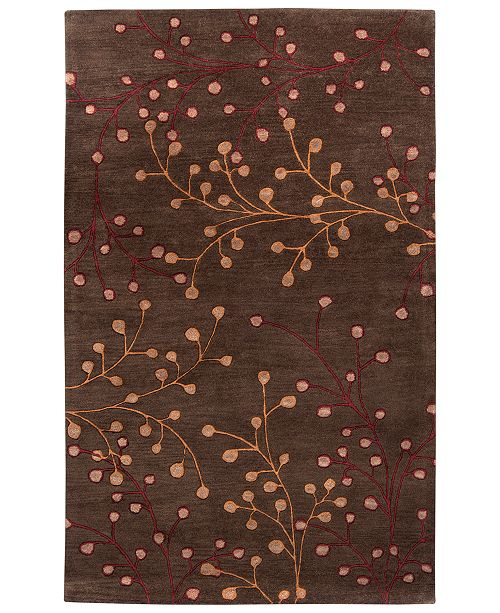 Surya Athena ATH-5052 Dark Brown 5' x 8' Area Rug