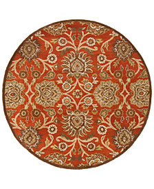 Surya Caesar CAE-1062 Burnt Orange 4' Round Area Rug