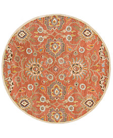 Surya Caesar CAE-1107 Burnt Orange 4' Round Area Rug