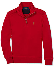 Polo Ralph Lauren Toddler Boys Half-Zip Supima® Cotton Pullover