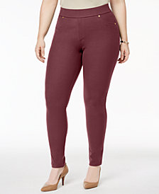 MICHAEL Michael Kors Plus Size Stretch-Twill Leggings