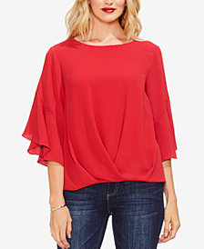 Vince Camuto Draped Ruffled Top