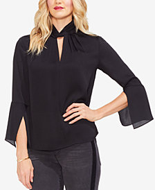 Vince Camuto Twist-Neck Handkerchief-Sleeve Top