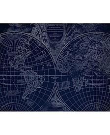 "World Geography Globe Map 16"" X 20"" Canvas Wall Art Print"