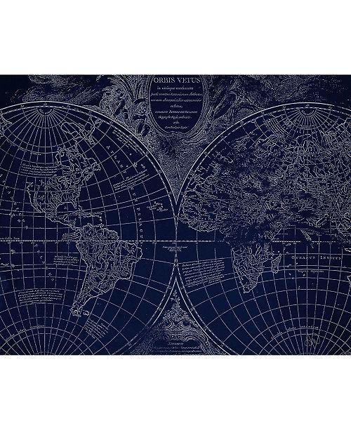 "Creative Gallery World Geography Globe Map 16"" X 20"" Canvas Wall Art Print"