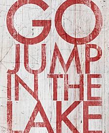 """Go Jump The Lake 24"""" X 36"""" Canvas Wall Art Print"""