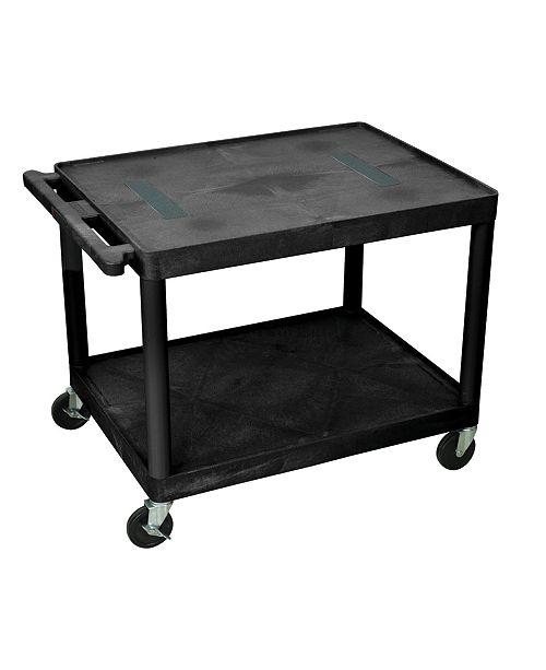 "Clickhere2shop OF-LE27-B - 27"" Two Shelves Endura AV Cart - Black"