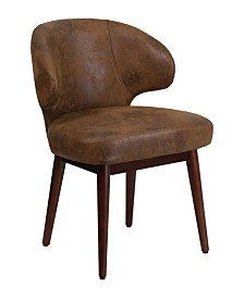 Offex Bomber Jacket Microfiber Reception-Lounge-Office Chair with Walnut Legs