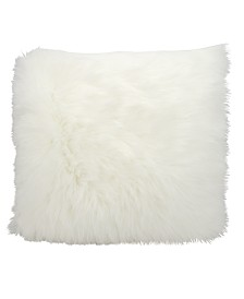 Mina Victory Fur Remen Poly Faux Fur Decorative Pillow