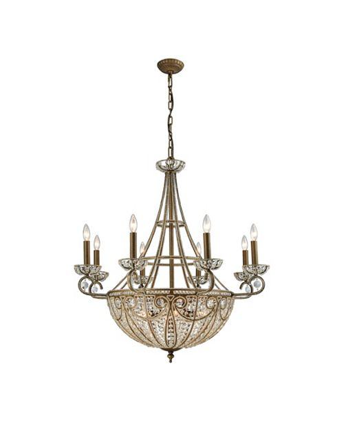 ELK Lighting Elizabethan 14 Light Chandelier in Dark Bronze