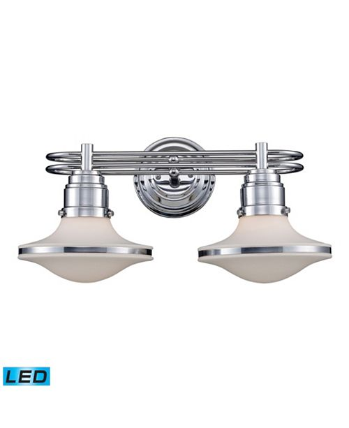 ELK Lighting Retrospective 2-Light Bath Bar in Polished Chrome - LED, 800 Lumens (1600 Lumens Total) with Full Scale Dimming Range