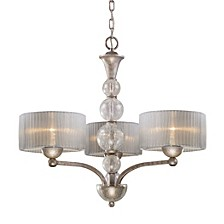 D Alexis 3-Light Chandelier in Antique Silver