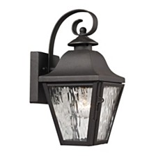Forged Brookridge Collection 1 light outdoor sconce in Charcoal
