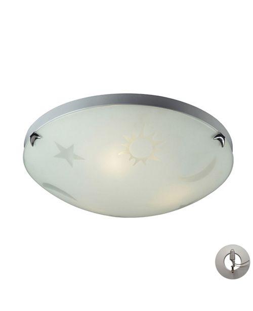 ELK Lighting Celestial Sky 3 Light Novelty Flushmount in Satin White Glass - Includes Adapter Kit