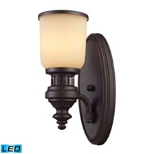 Chadwick 1-Light Sconce in Oiled Bronze - LED Offering Up To 800 Lumens (60 Watt Equivalent) with Fu