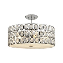 Tessa 5 Light Chandelier in Polished Chrome with Clear Crystal