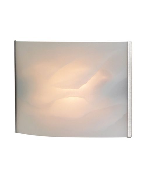 ELK Lighting Pannelli Vanity - 1 Light with Lamp. White Alabaster Glass / SS Finish