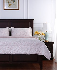 Berkshire Blanket® Floral Lace Plush King Comforter Set